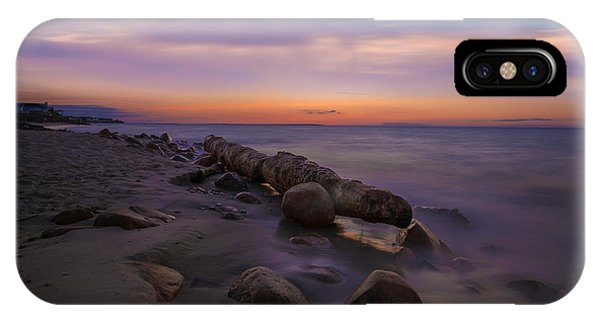 Montauk Sunset Boulders IPhone Case