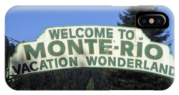 Monte Rio Sign IPhone Case