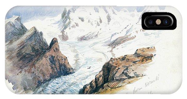 Rosa iPhone Case - Monte Rosa From Hornli, Zermatt by John Singer Sargent