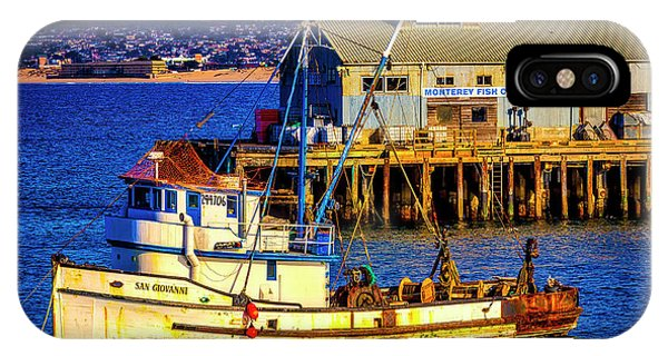 Monterey iPhone Case - Monterey Bay Fishing Boat by Garry Gay