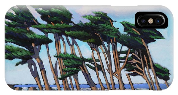 Monterey Cypress Row  IPhone Case
