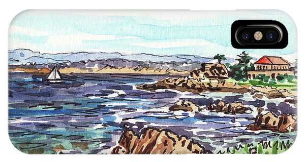 Monterey iPhone Case - Monterey Pacific Ocean Shore  by Irina Sztukowski