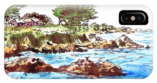 Monterey iPhone Case - Monterey Shore by Irina Sztukowski
