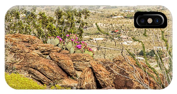 Montezuma Rd Cliff Side Flower Garden IPhone Case