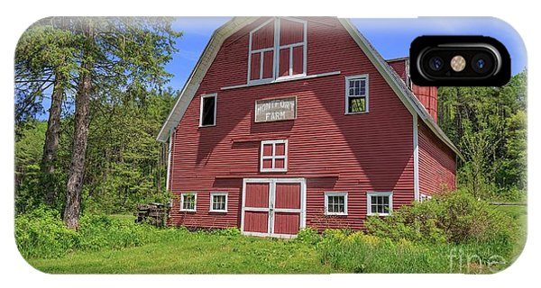 New England Barn iPhone Case - Montford Farm Red Barn Orford New Hampshire by Edward Fielding