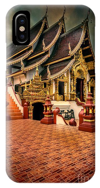 Monthian Temple Chiang Mai  IPhone Case