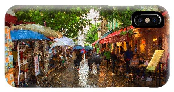 Montmartre Art Market, Paris IPhone Case