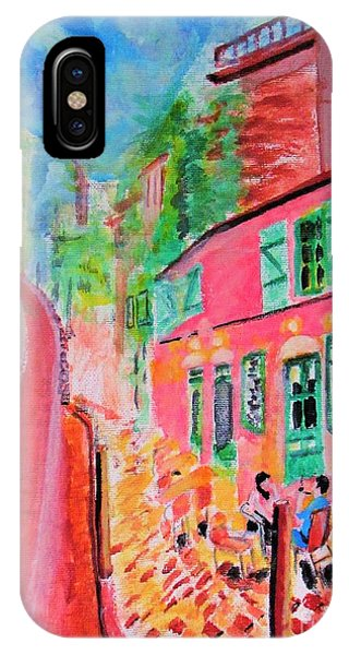 Montmartre Cafe In Paris IPhone Case