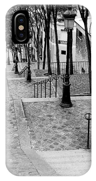 IPhone Case featuring the photograph Montmartre Stairway Paris by Pierre Leclerc Photography