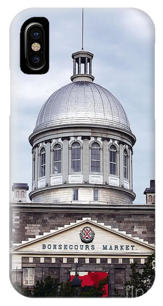 Montreal Bonsecours Market Phone Case by John Rizzuto