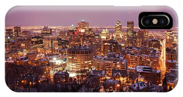Montreal City Lights Phone Case by Pierre Leclerc Photography