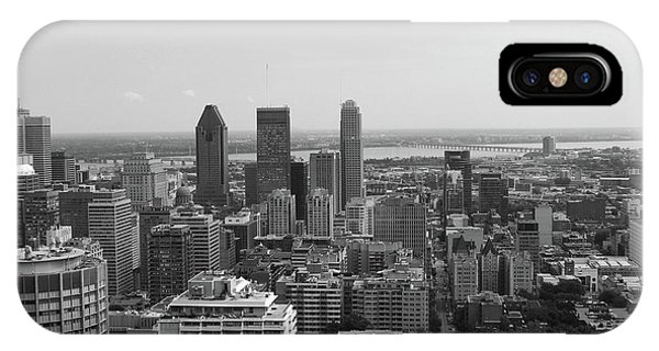 Montreal Cityscape Bw IPhone Case