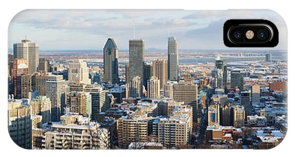 Quebec City iPhone Case - Montreal In Winter Panorama by Jane Rix