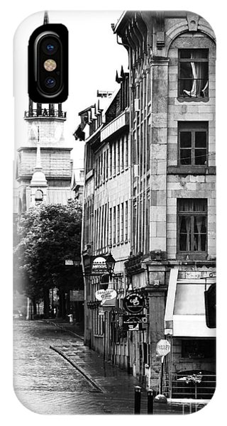 Montreal Street In Black And White IPhone Case