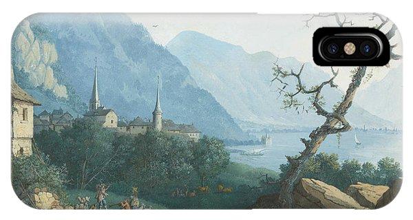 French Painter iPhone Case - Montreux Von Nordwesten by Louis Albert Guislain Bacler d'Albe