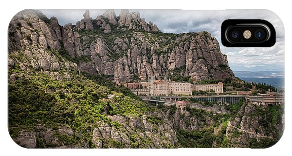 Montserrat Mountains And Monastery In Spain IPhone Case