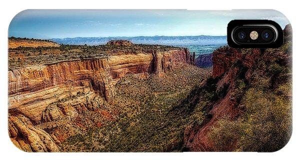 Monument Canyon And Saddlehorn IPhone Case
