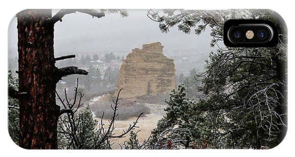 Monument Rock In The Snow IPhone Case