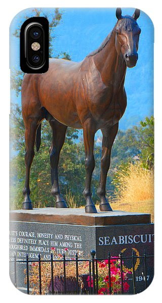 Monument To Seabiscuit IPhone Case