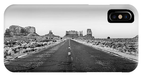 Monument Valley iPhone Case - Freedom Bw by Az Jackson