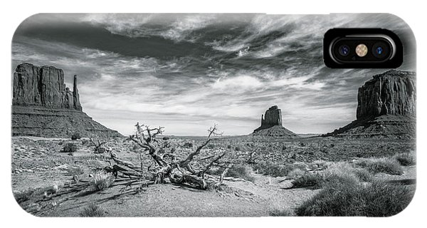 IPhone Case featuring the photograph Monument Valley by Lou Novick