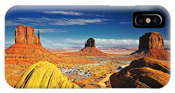Monument Valley Mittens Utah Usa IPhone Case