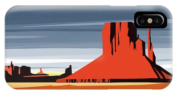 Arizona iPhone Case - Monument Valley Sunset Digital Realism by Sassan Filsoof