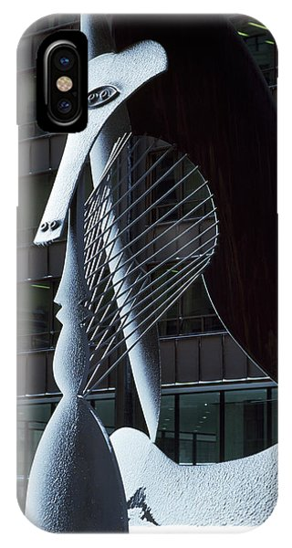 Monumental Sculpture In Front IPhone Case