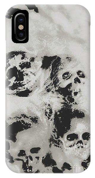 Moody Dramatic Cobwebby Skull Artwork IPhone Case