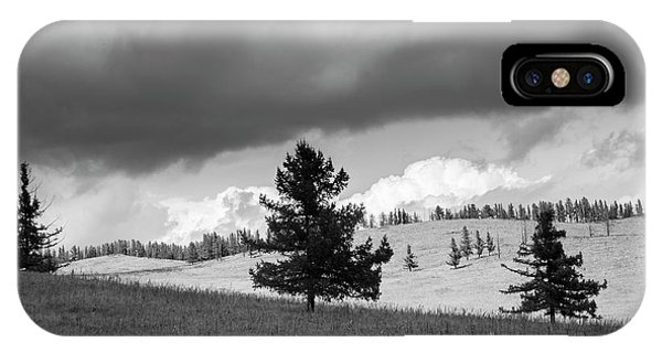IPhone Case featuring the photograph Moody Meadow, Tsenkher, 2016 by Hitendra SINKAR