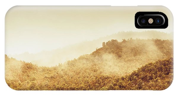 Morning Mist iPhone Case - Moody Mountain Morning by Jorgo Photography - Wall Art Gallery