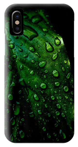 Moody Raindrops IPhone Case