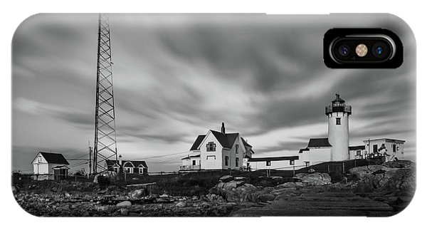 Moody Sky At Eastern Point Lighthouse IPhone Case