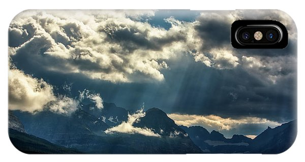 Moody Sunrays Over Glacier National Park IPhone Case