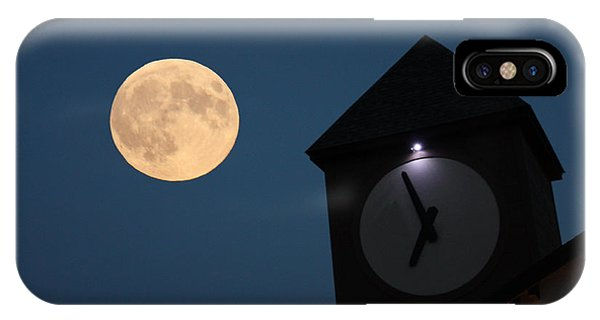 Moon And Clock Tower IPhone Case