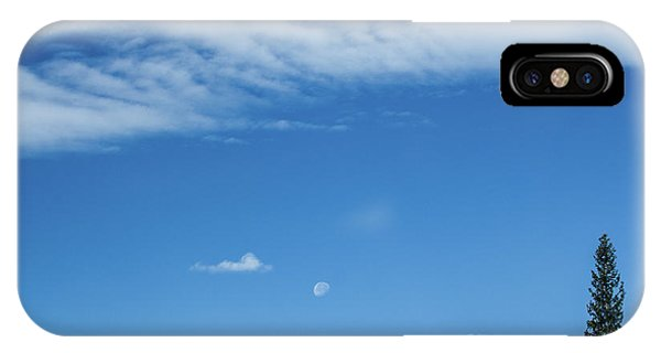 IPhone Case featuring the photograph Moon And Mountain Peak by Tyson Kinnison