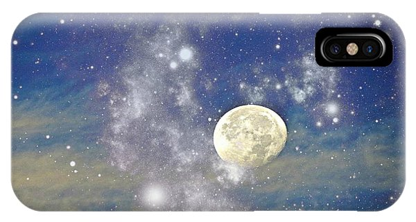 Moon And The Stars IPhone Case
