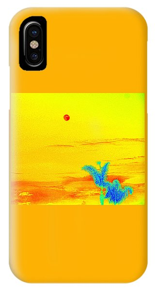 Moon And Two Palms IPhone Case