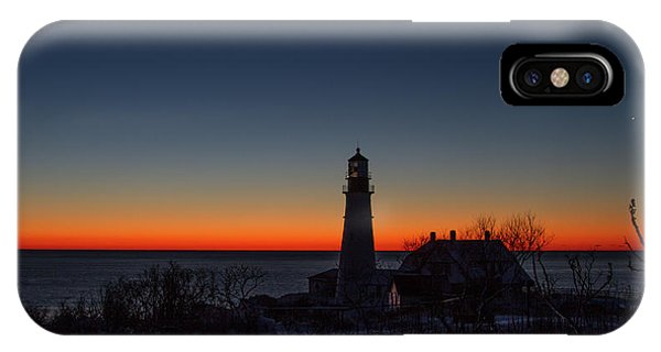 Moon And Venus - Headlight Sunrise IPhone Case