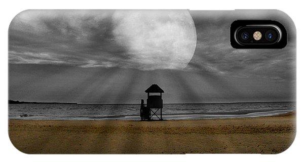 Moon Beams IPhone Case
