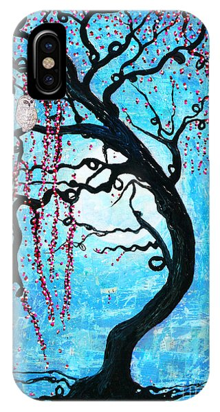 IPhone Case featuring the mixed media Moon Blossoms by Natalie Briney