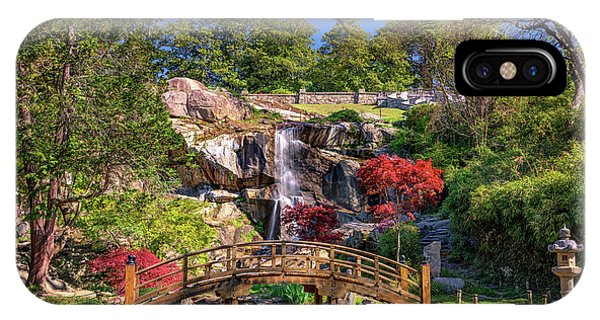 Moon Bridge And Maymont Falls IPhone Case