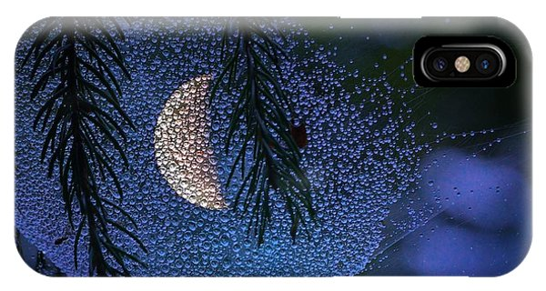 Moon In A Web Phone Case by Molly Dean