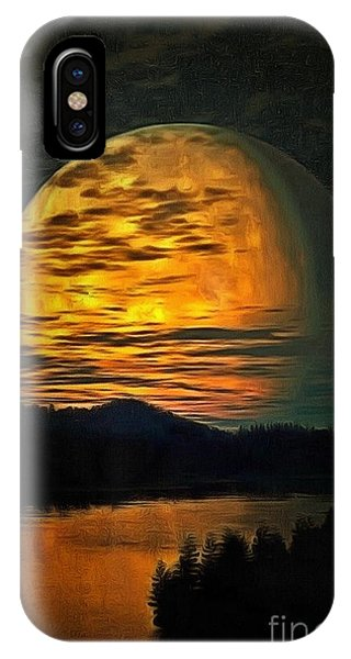 Moon In Ambiance IPhone Case