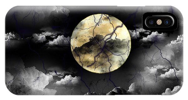 Moon In The Storm IPhone Case