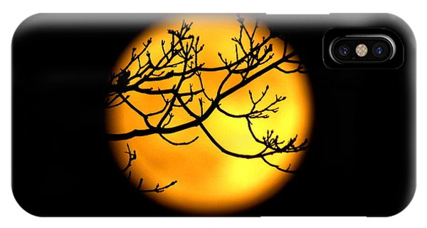 Moon In The Trees IPhone Case