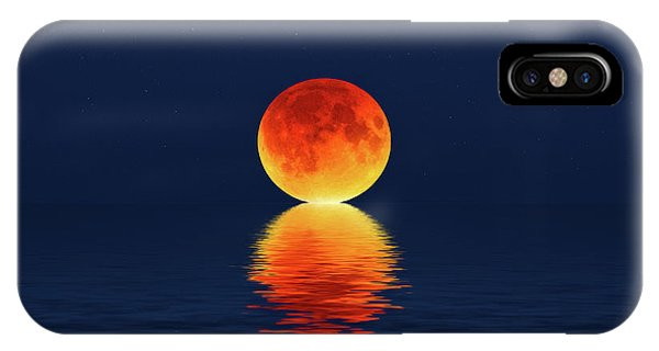 Moon Kissing The Sea IPhone Case
