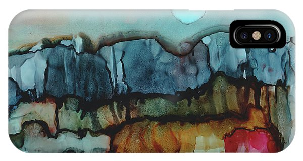 Moon Landscape In Alcohol Inks IPhone Case