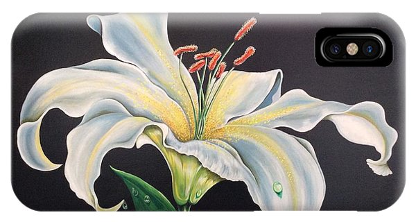 Moon Light Lilly IPhone Case