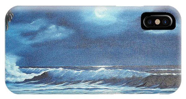 Moon Light Night In Paradise IPhone Case